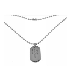 Collar Placa Militar Doble de Acero