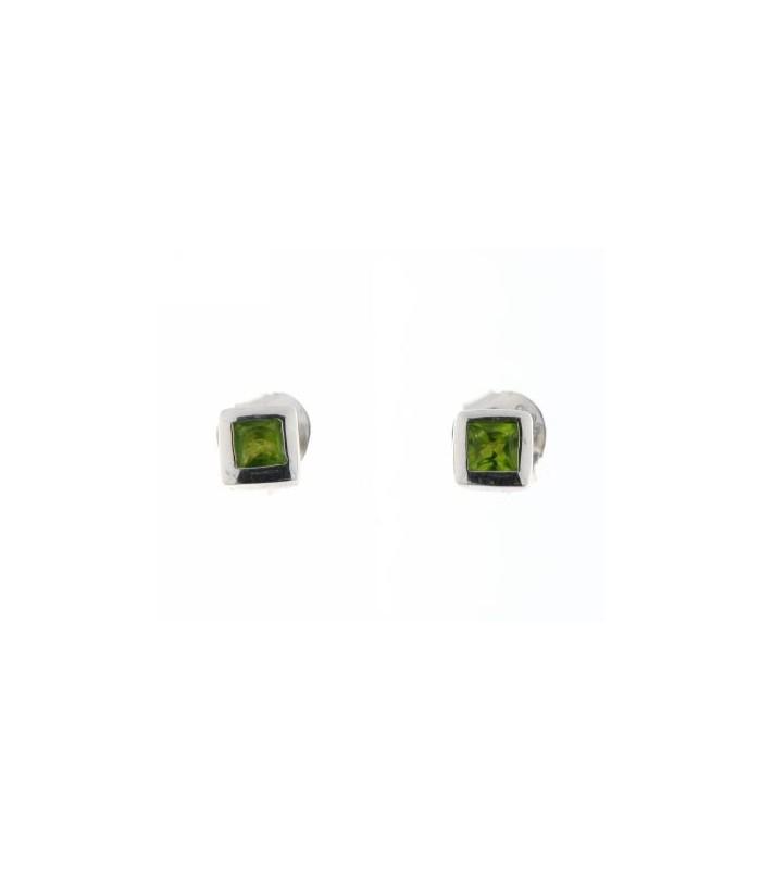 Pendientes Chatón Verde