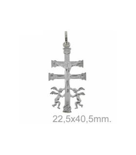 Colgante Cruz de Caravaca Plata