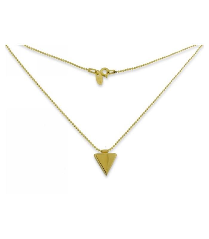 Collar Triángulo Dorado