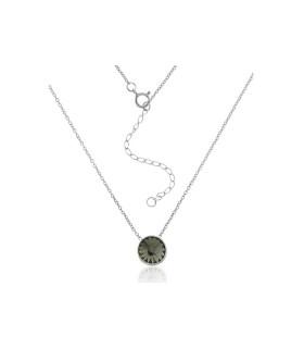 Collar Swarovski Gris de Plata