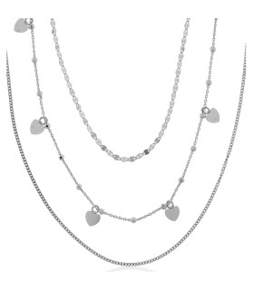 Collar Triple Plata