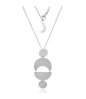 Collar Geométrico de Plata