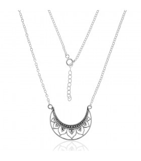 Collar Luna Invertida de Plata
