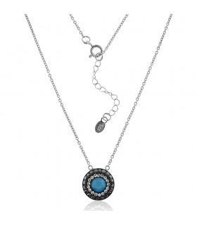 Gargantilla de Swarovski Azul. Collar con Cristal Swarovski